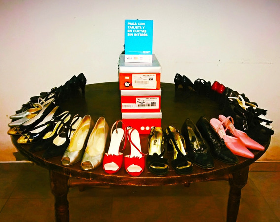 Lote De Zapato Dama Usado (nro 32 Al 35)