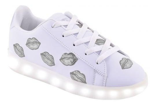 Zapatillas 47 Street Footy Blanca Besos Led Usb Fty Calzados