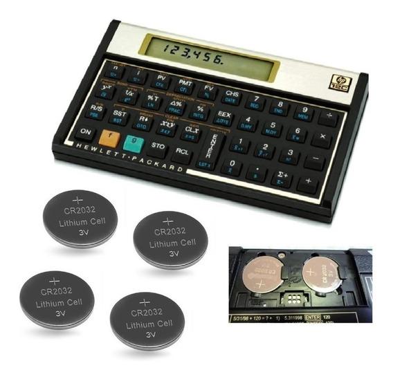 Bateria Cr2032 Hp12c E Controle Remoto Kit Com 4 Unidades