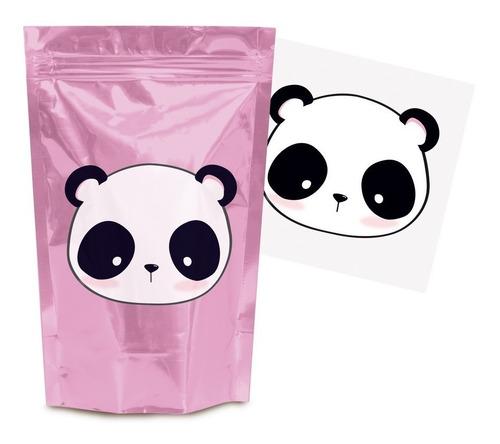 Kit 8 Sacolinhas C/papel Transfer Lembrancinha Panda