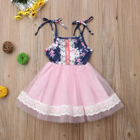 Vestido Niña Con Falda De Tul Y Algodón