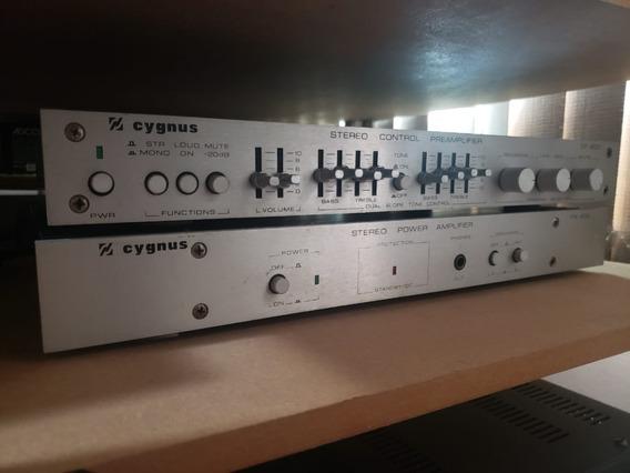 Pré Amplificador E Power Amplificador Cygnus Cp400 E Pa400