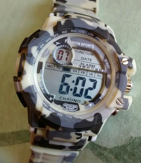 Relógio Militar Camuflado Digital Exercito Barato Promoção