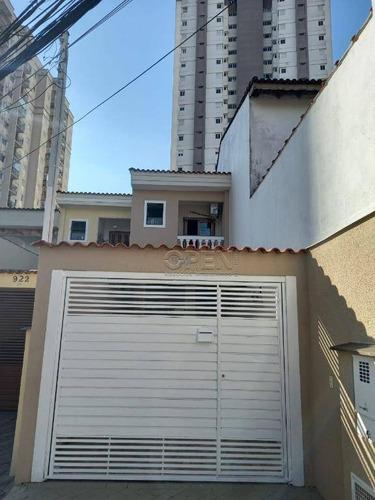 Imagem 1 de 21 de Sobrado Com 2 Dormitórios 2 Suítes  R$ 485.000 - Vila Valparaíso - Santo André - So2382