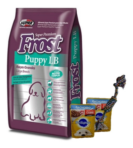 Frost Cachorro Razas Grandes 15+2kg + Salsas + Piola + Envío