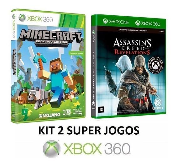 Minecraft + A C Revelations - Midia Fisica Lacrado Xbox 360