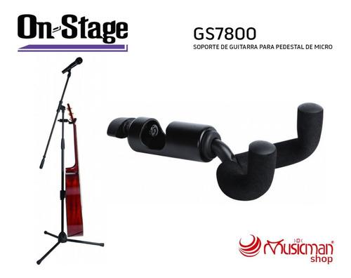 On Stage Soporte De Guitarra Para Pedestal De Micrófono