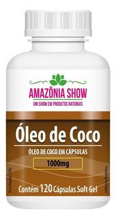 Oleo De Coco 120 Capsulas De 1000mg!