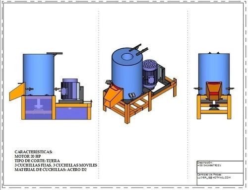 Imagen 1 de 2 de Kit Planos Aglutinadora Cotufadora Densificador Pet Plástico