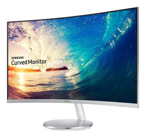 Monitor Curvo 27 Pulgadas Samsung F591 Blanco Freesync Hdmi