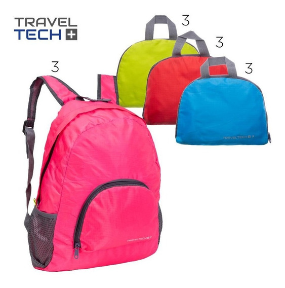 Mochila Plegable De Espalda Unisex Travel Tech Impermeable