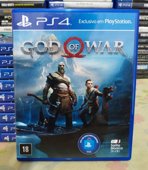 God Of War 4 Ps4 - Mídia Física Português Dublado Original