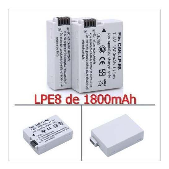Bateria Canon Lpe8 Lp E8 1800mah 700d T3i T4i T5i Kiss X5 A