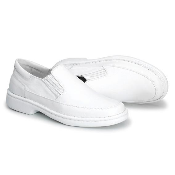 Sapato Masculino Branco Couro Enfermeiro Médico Dentista 1709