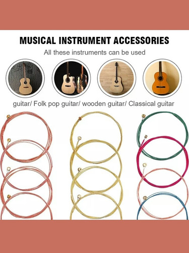 Cuerdas Para Guitarra Clasica Con 2 Pajuelas 10verdes