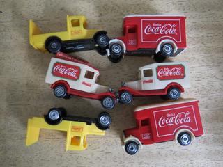 Lote De Miniatura De Caminhão - Coca Cola