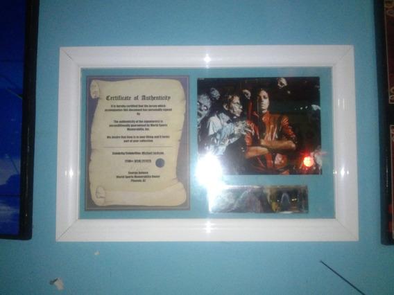Autografo Certificado De Michael Jackson