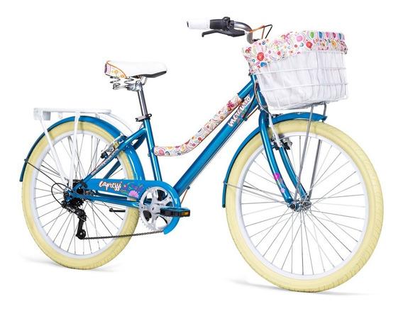 Bicicleta Mercurio Capressi 6 Vel Canasta Parrilla R24 2019