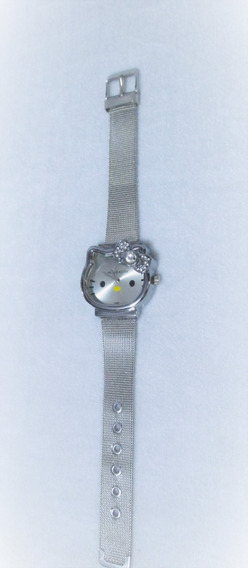 Reloj Kitty Face , Rosegold, Dorado, Plata