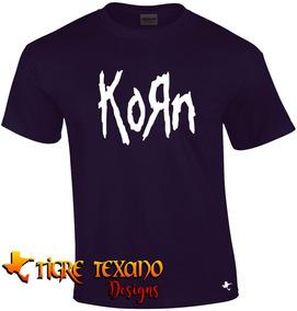 Playera Bandas Korn Mod. 01 Tigre Texano Designs