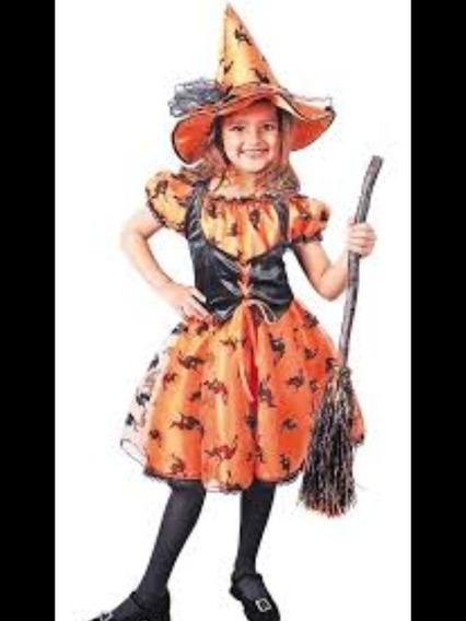 Disfraz Brujita Naranja Talla 8
