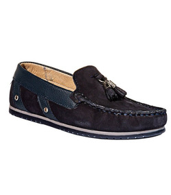 Zapatos Casuales Leon Niño Azul Marino Gamuza 13804
