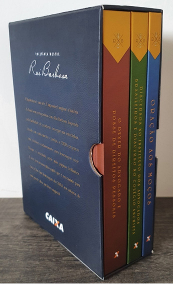 Coletânea Mestre Rui Barbosa - 2015 - 3 Vols. - Box Novo