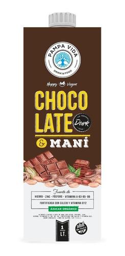 Imagen 1 de 6 de Leche Con Chocolate & Mani Pampa X 1lt
