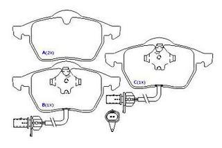 Jogo Pastilha Diant. Audi A4 2.6, 2.8,3.0 Conversível Pd525a