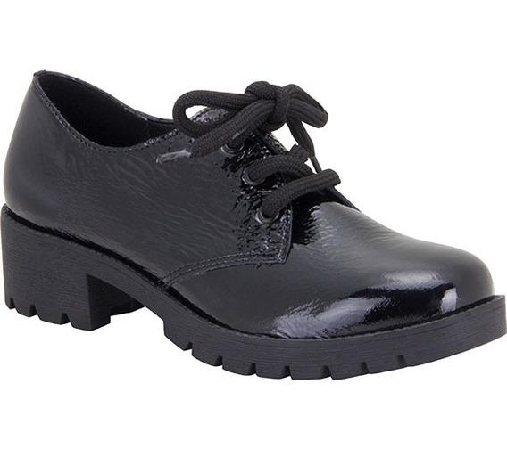 Sapato Feminino Bottero Couro Verniz Preto - 299903
