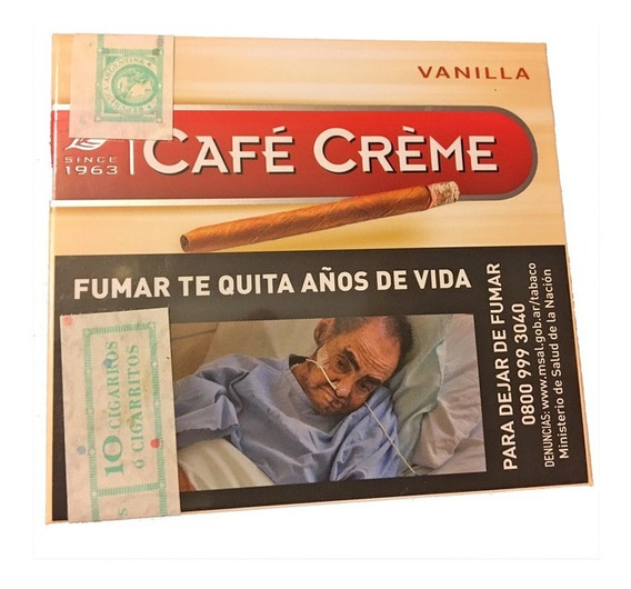 Cafe Creme Cigarro Vainilla Puritos Habano Pack X50 Puros