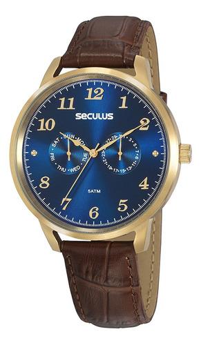 Relógio Seculus Masculino Grande Barato Original Prova D'águ
