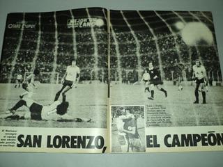 San Lorenzo Campeon Nacional / Temperley / El Grafico / 1974
