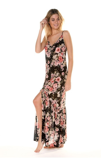 Vestido Billabong Flowers In The Air Bk Dress Mujer