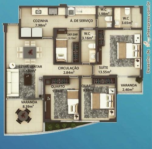 Apartamento À Venda, 3 Quartos, 1 Suíte, 2 Vagas, Pontalzinho - Itabuna/ba - 2575