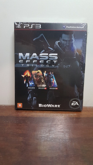 Mass Effect Trilogy Ps3 Trilogia 1 2 3 Lacrado Midia Fisica