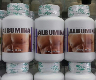 Albumina - 500mg/60 Cápsulas Atacado C/24 Frascos