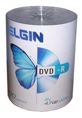 Dvd-r Com Logo 4,7gb 16x Embalagem C/100 Elgin Imediato