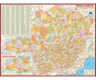 Mapa Estado De Minas Gerais Atualizado 120cm