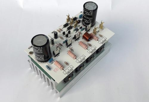 Placa Amplificador 200w Com Dissipador E Fonte Embutida
