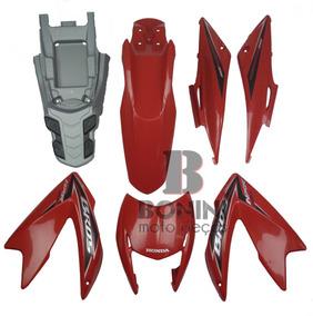 Kit Carenagem Nxr 150 Bros 2011 Es Vermelha Com Adesivo