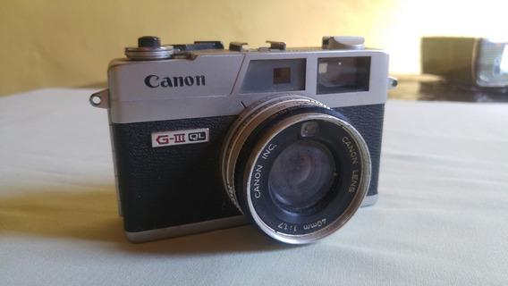 Câmera Canon Canonet Ql17 (para Colecionadores)