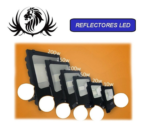 Reflector Led 10w 20w 50w 100w 150w 200w  Multivoltaje