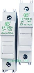 Porta Fusível Solar 10x38 Pv 1000v Dc/cc 10-15-20-25a (par)