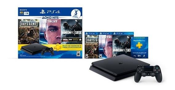 Consola Ps4 Slim1tb $399 Ps4 Hits 3 Juegos $468 Ps4 Pro $530