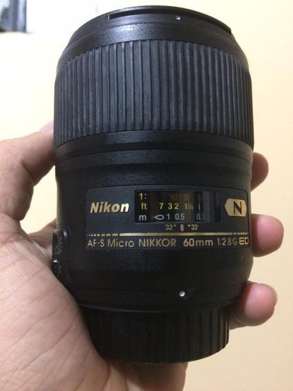 Lente Micro Nikkor 60mm F/2.8 G Ed