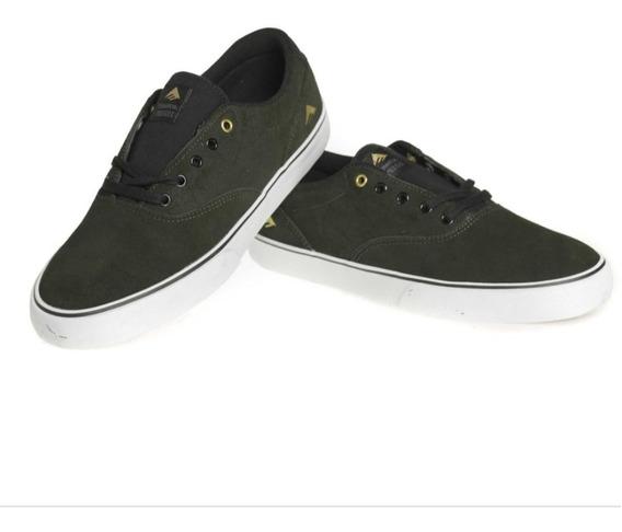 Zapatillas Emerica Provost Slim Vulc Green Black White