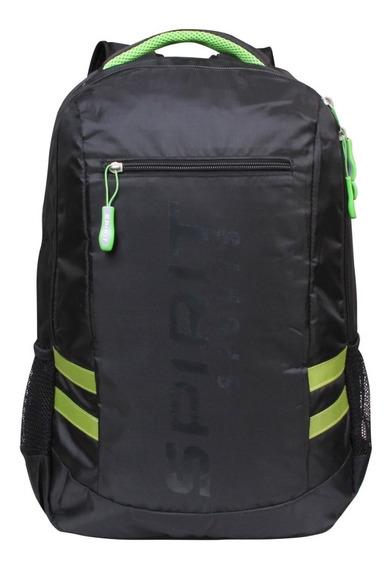 Mochila Bolsa Notebook Reforçada Resistente Spirit Sport Verd Passagem Para Fone Bolso Para Smartphone Alças Acolchoadas