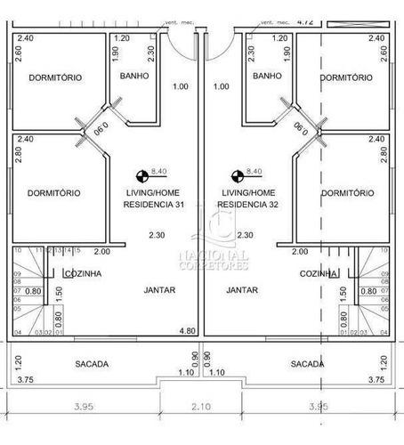 Apartamento Com 2 Dormitórios À Venda, 45 M² Por R$ 260.000,00 - Vila Scarpelli - Santo André/sp - Ap11155