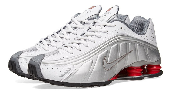 Tenis Nike Shox R4 Og 4 Molas Branco Prata White Silver Ltd